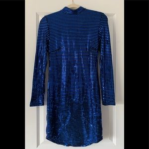 Blue Sequin Charlotte Russe dress size M